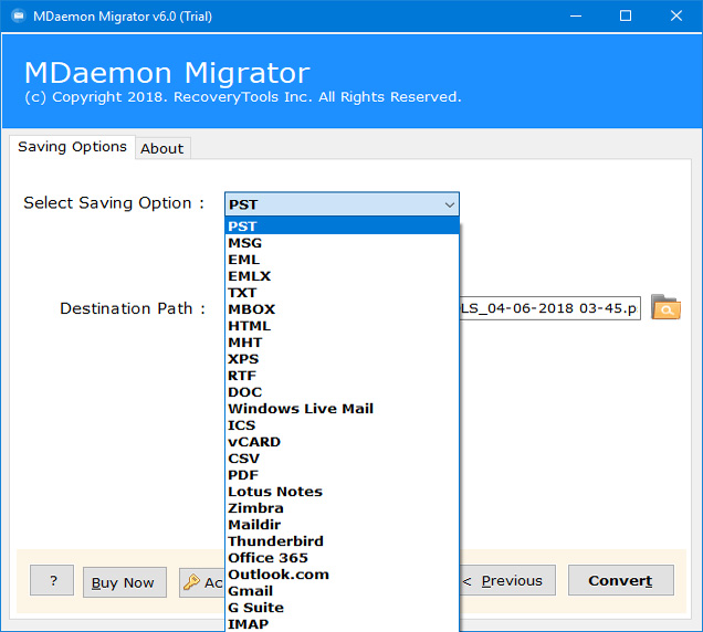 MDaemon Converter to Migrate MDaemon to Office 365, Zimbra, PST